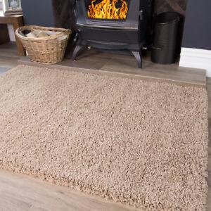 Beige Taupe Light Brown Tan Warm Shaggy Area Rug Living Room Bedroom Floor Rugs