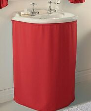 Plain Dyed 100 Polyester Bathroom Single Shower Curtains Available In 7 Colours Red