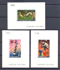KOREA 1987 --6 PROOF BLOCKS CIRCUS FESTIVAL IN MONACO (*) -- THICK PAPER @6