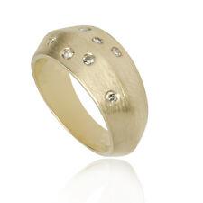 Occasion gouden ring gematteerd 7 briljanten