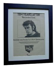 TEN YEARS AFTER+Recorded Live+POSTER+AD+ORIGINAL 1973+FRAMED+EXPRESS GLOBAL SHIP