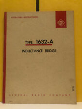 General Radio Type 1632 A Inductance Bridge Operating Instructions