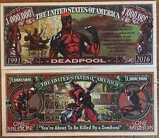 Deadpool Million Dollar Bill ( Marvel , Sony, X-men )