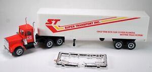 HO 1/87 Promotex # 6065 Peterbilt Day Cab w/40' Dry Van Trailer Super Transport