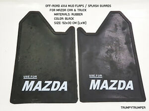 USE FOR MAZDA 4WD 4X4 OFF-ROAD MUD FLAPS SPLASH GUARDS CAR TRUCK BLACK RUBBER