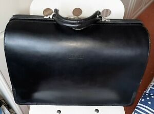 Texier Briefcase, Attache Case - Doctor's 'Gladstone Bag' Style - Made in France