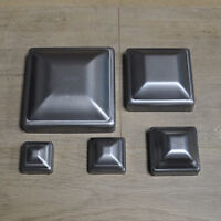 Post Cap Pressed Dome Steel Metal Square for Gate Fences | Multiple Sizes