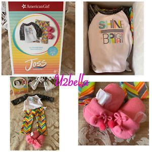 American Girl Doll Joss's Shine Bright Pajamas PJs Outfit NEW IN BOX
