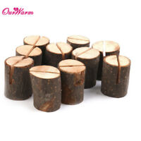 50x Wedding Wooden Table Number Place Card Holder Stand for Banquet Party Decor