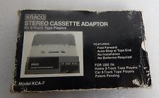 New listing Vtg Kraco Stereo Cassette Adaptor for 8-Track Tape Players Model Kca-7