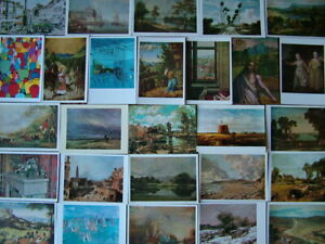 100 Unused  ART Postcards. Good - Very good condition. Modern size.