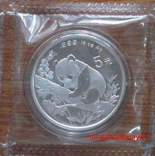 1995 panda 1/2oz silver coin shanghai mint