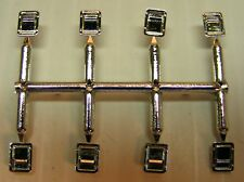 Rectangular Slam Locks Chrome Plated 1/24th Scale By Don Mills Models