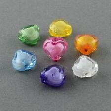 Lot 20 Perle Coeur 8mm Acrylique Couleur Mix Creation Bijoux, collier, bracelet