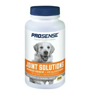 Pro-Sense Hip & Joint Solutions For Dogs Advanced Strength 60 Chewable Tablets