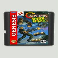 Contra The Hard Corps 16 bit SEGA MD Game Card For Sega Genesis Only Contra Hard