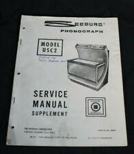 Vtg Seeburg Jukebox Usc2 Service Manual Phonograph Dealer Schematics Supplement