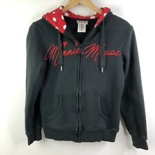 Womens Disney  Minnie Mouse Hoodie with Ears and Polka Dot Bow Small
