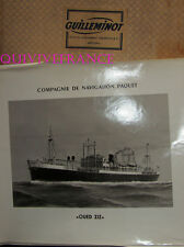 GRANDE PHOTO CNP Cie NAVIGATION PAQUET - OUED ZIZ cargo arachidier 1949-1968