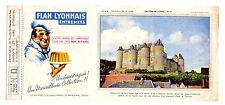 Buvard publicitaire Flan lyonnais série B chateaux de la Loire  n° 13 Luynes