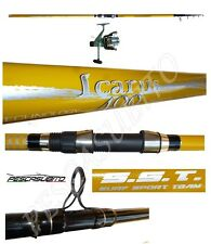 kit canna da pesca beach ledgering 4m lancio + mulinello sword surfcasting mare