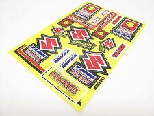 Suzuki Aufkleber Bogen Sticker Satz gelb rot Motul NGK für Motorrad #50