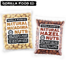 Gorilla Food Co. Macadamia Nuts + Hazelnuts Whole - 2 x 1lb Combo Pack