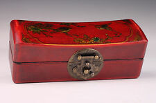 Superb Vintage Leather Box Jewelry Box Collectable Old Handwork