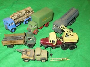 Airfix OO scale lot AEC Bedford trucks kit built & converted for renovation