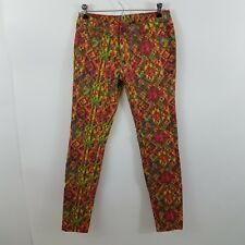 Princess Vera Wang jeans pants skinny bright geometric pattern 5 juniors jegging