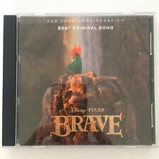 """BRAVE Movie CD FYC Best Original Song X 2 """"Learn Me Right"""" & """"Touch The Sky"""""""