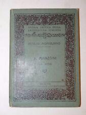 MOMIGLIANO, Attilio: ALESSANDRO MANZONI (LA VITA) 1915 Messina Principato