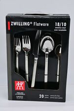 J.A. Henckles Zwilling 22136-320 Speed New 20 Piece Flatware Set 18/10 Stainless