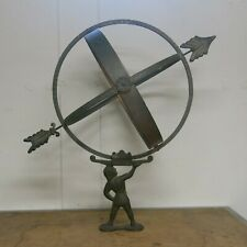 Brass Bronze and Copper Armillary Sundial attributed to Sune Rooth