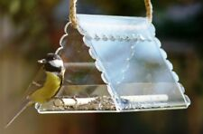 Hanging bird feeder clear, Bright garden outdoor decor, Gift for mum and dad