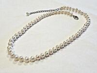 Bijou collier véritables perles d'eau douce un noeud entre chaque perle necklace