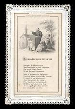 santino merlettato-holy card-canivet*LETAILLE pl.garde n.22 MODELLO PER  NS.FEDE