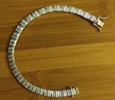 14K Yellow Gold Over 925 Sterling Silver & Diamond Bracelet