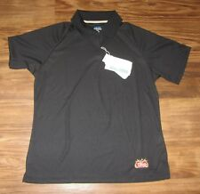 Stella Artois Beer Womens 3-Button Polo Shirt, Black, Polyester, Size L, NEW