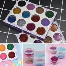 12 Colors Glitter Powder Nail Jewelry Women Nail Decor Flakies DIY Supplies Set