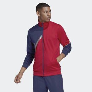 Adidas Tan Club Home (Men's Size L) Athletic Track Jacket