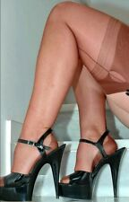 Eleganti Fully Fashioned Stockings - COPPER / BLACK SEAM HAVANA - imperfects