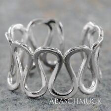Silberring Silber 925 Ring  Verstellbar Offen R0805 🌊 edel, modern, breit