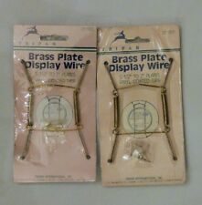 """Pair of Tripar 5 1/2"""" to 7"""" Brass Plate Display Wire New in Package"""