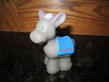Fisher Price Little People donkey blue saddle manger nativity farm barn stable