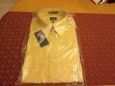 MEN'S ARROW YELLOW SATEEN LIGHT MAIZE DRESS SHIRT NEW  SIZE 16 1/2 32/33