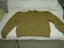 Women's large crew neck sweater. Desert colors, Hand-made. 2 back buttons.