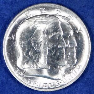 1936 50c BU Long Island Tercentenary Commemorative Silver Half Dollar Coin