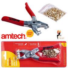 Eyelet Plier Punch Tool 100 Eyelets Hole Maker Leather Craft Kit Amtech B2500