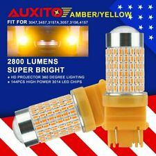 High Power 144SMD 3157 4157 3057 Amber Yellow Turn Signal Backup Light LED Bulbs